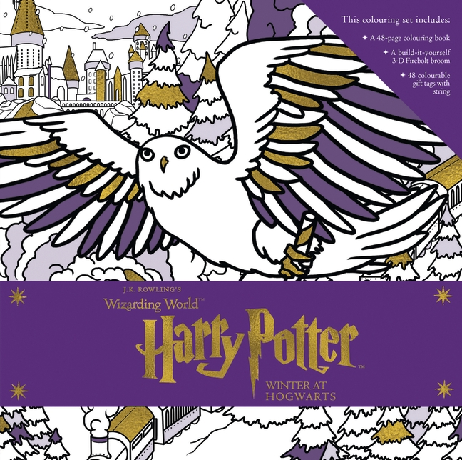 Harry Potter: Winter at Hogwarts: A Magical Colouring Set by Insight Editions