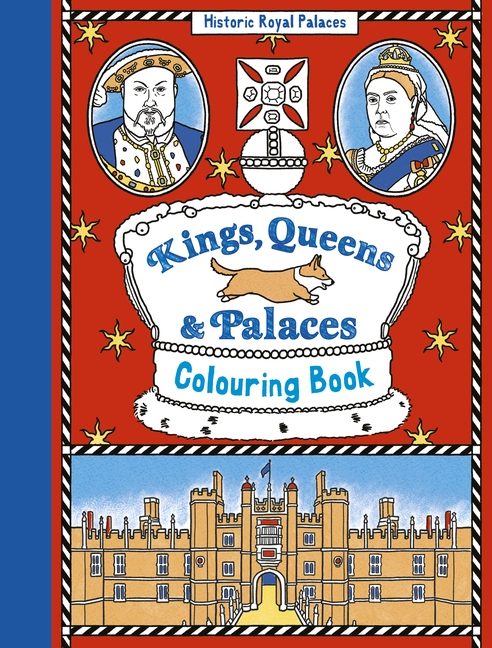 Kings, Queens and Palaces Colouring Book by