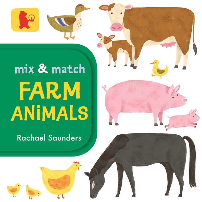 Mix and Match: Farm Animals by Rachael Saunders